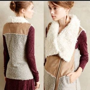 Saturday Sunday Anthropologie Sherpa Moto Vest XL